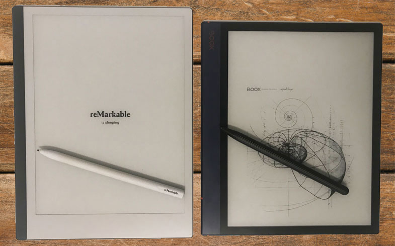 Porównanie tabletów e-ink reMarkable 2 i onyx Boox note air
