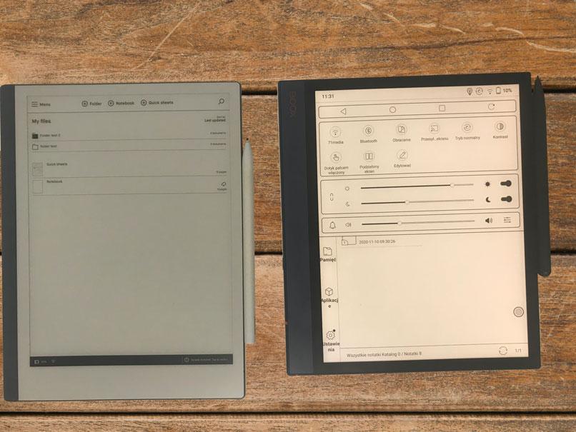 Onyx Boox Note Air posiada podświetlany ekran, a reMarkable 2 nie