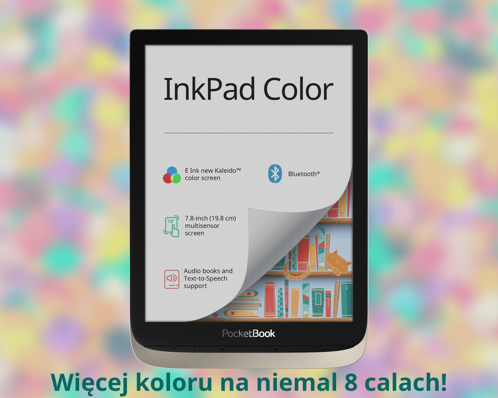 Czytnik e-booków z dużym kolorowym ekranem!