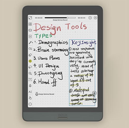 Onyx Boox Nova 3 Color notatki ze spotkań podczas pracy