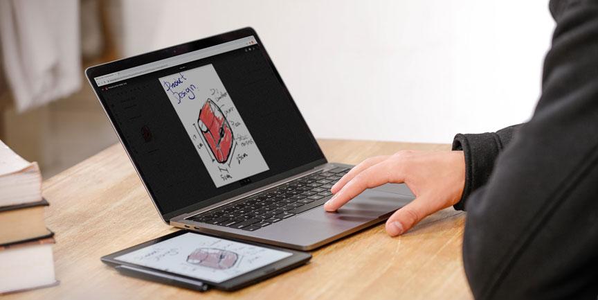 Onyx Boox Nova 3 Color praca na laptopie