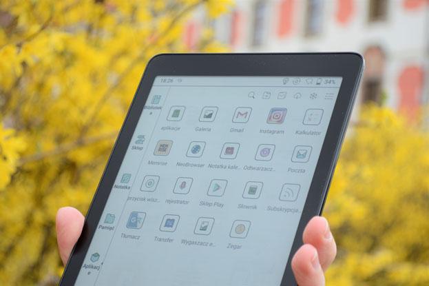 Onyx Boox Nova 3 Color aplikacje dostępne w ramach Google Play