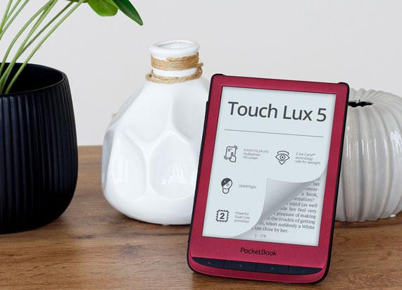 Porównanie czytników PocketBook PocketBook Touch Lux 5 6-calowy czytnik e-booków z Legimi i Empik Go