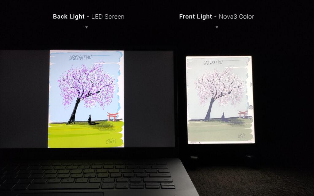 Onyx Boox Nova 3 Color podświetlenie ekranu bezpieczne dla oczu.