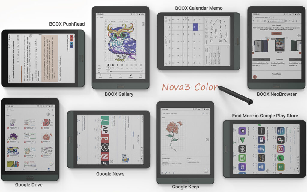 Onyx Boox Nova 3 Color tablet E-Ink o wielu zastosowaniach