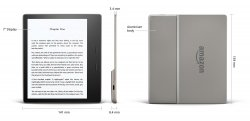 Kindle Oasis 3 - 8GB + Etui Casebot Bordowe