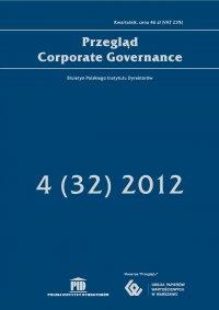 Przegląd Corporate Governance 4 (32) 2012 - Andrzej S. Nartowski