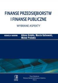 Finanse przedsiębiorstw i finanse publiczne - wybrane aspekty. Tom 6 - Aldona Uziębło (red.)