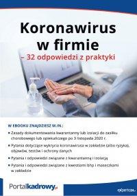 Koronawirus w firmie – 32 odpowiedzi na pytania pracodawców - Opracowanie zbiorowe