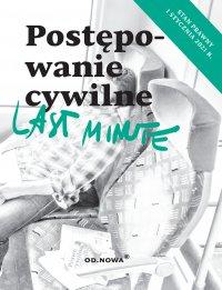 Last Minute. Postępowanie Cywilne. Styczeń 2021 - Bogusław Gąszcz