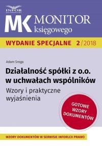 Działalność spółki z o.o. w uchwałach wspólników - Adam Sroga