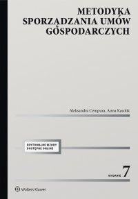Metodyka sporządzania umów gospodarczych - Aleksandra Cempura