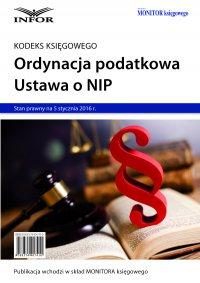 Ordynacja podatkowa. NIP 2016 - Opracowanie zbiorowe