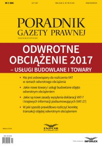 Odwrotne obciążenie 2017 – usługi budowlane i towar - Aneta Szwęch