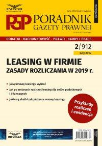 Leasing w firmie – zasady rozliczania w 2019 r. - Aneta Szwęch