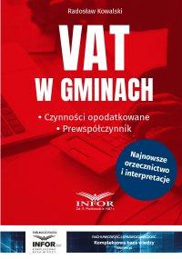 VAT w gminach.Czynności opodatkowane.Prewspółczynnik - Radosław Kowalski