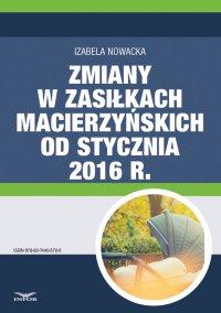 Zmiany w zasiłkach macierzyńskich od stycznia 2016 r. - Izabela Nowacka