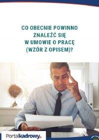 Co obecnie powinno znaleźć się w umowie o pracę (wzór z opisem)? - Iwona Jaroszewska-Ignatowska