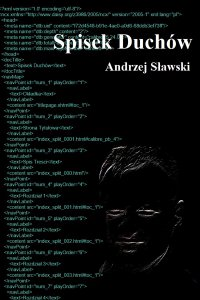 Spisek duchów - Andrzej Sławski