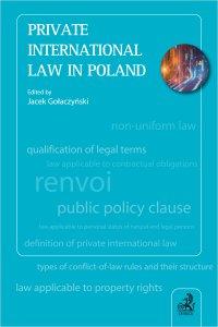 Private International Law in Poland - Jacek Gołaczyński