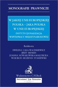 W jakiej Unii Europejskiej Polska - jaka Polska w Unii Europejskiej. Instytucjonalizacja współpracy międzynarodowej - Ewelina Cała-Wacinkiewicz