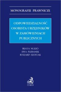 Odpowiedzialność osobista urzędników w zamówieniach publicznych - Beata Nuzzo