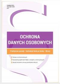 Ochrona danych osobowych - wydanie grudzień 2014 r. - Przemysław Zegarek