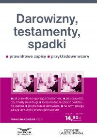 Darowizny, testamenty, spadki - Eliza Jamborska