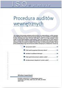 Procedura auditów wewnętrznych - Mirosław Lewandowski