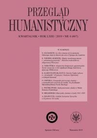 Przegląd Humanistyczny 2019/4 (467) - Tomasz Wójcik