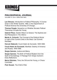 KRONOS III/2014. Philosophical Journal - Opracowanie zbiorowe