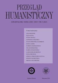 Przegląd Humanistyczny 2019/2 (465) - Ewa Paczoska