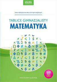 Matematyka. Tablice gimnazjalisty - Opracowanie zbiorowe