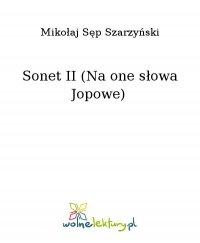 Sonet II (Na one słowa Jopowe) - Mikołaj Sęp Szarzyński