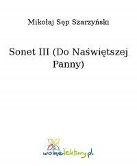 Sonet III (Do Naświętszej Panny) - Mikołaj Sęp Szarzyński