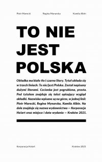 To nie jest Polska - Regina Mynarska