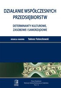 Działanie współczesnych przedsiębiorstw. Determinanty kulturowe, zasobowe i samorządowe. Tom 12 - Tadeusz Falencikowski (red.)