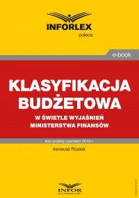 Klasyfikacja budżetowa w kontekście wyjaśnień Ministerstwa Finansów - Ireneusz Rosiek