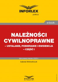 Należności cywilnoprawne – ustalanie, pobieranie i ewidencja – część I - Izabela Motowilczuk