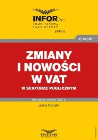 Zmiany i nowości w VAT w sektorze publicznym - Janina Fornalik