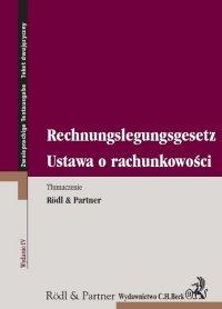 Ustawa o rachunkowości. Rechnungslegungsgesetz - Opracowanie zbiorowe