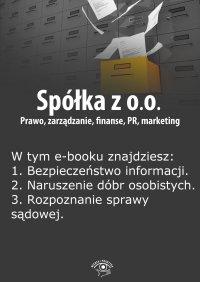 Spółka z o.o. Prawo, zarządzanie, finanse, PR, marketing. Wydanie maj 2014 r. - Barbara Brózda