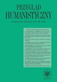 Przegląd Humanistyczny 2018/1 (460) - Agnieszka Karpowicz