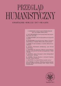 Przegląd Humanistyczny 2017/4 (459) - Łukasz Książyk