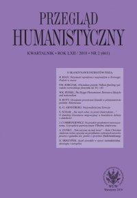 Przegląd Humanistyczny 2018/2 (461) - Włodzimierz Pessel