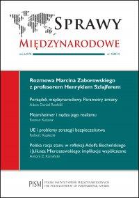 Sprawy Międzynarodowe 4/2014 - Marcin Zaborowski