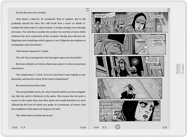 Onyx Boox Max 3 dzielenie ekranu