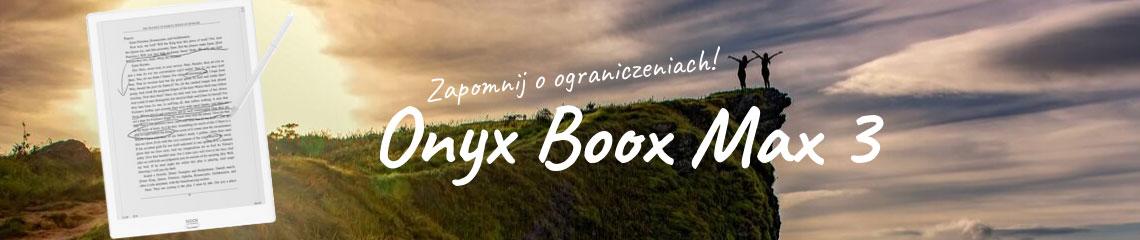 Onyx Boox Max 3 czytnik e-booków z ekranem 13,3-cali.