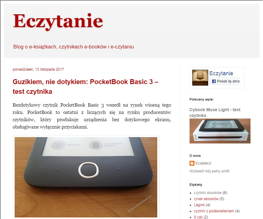 PocketBook  Basic 3, czytnik ebooków
