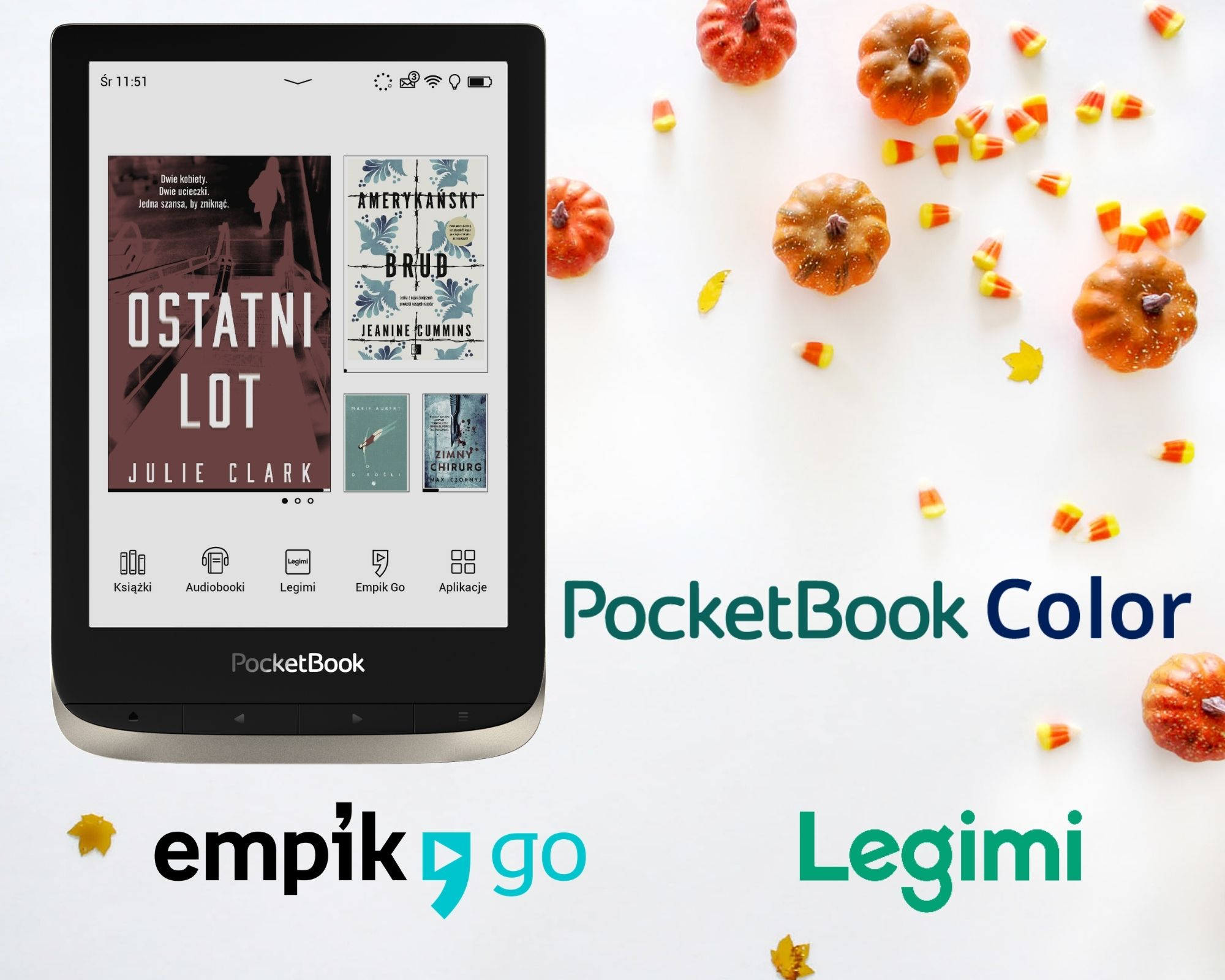 Empik Go i Legimi na PocketBook color